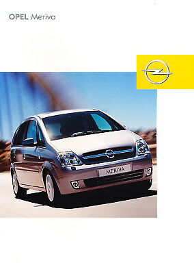2003 Opel Meriva German Sales Brochure Prospekt