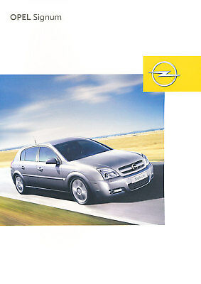 2003 Opel Signum German Sales Brochure Prospekt