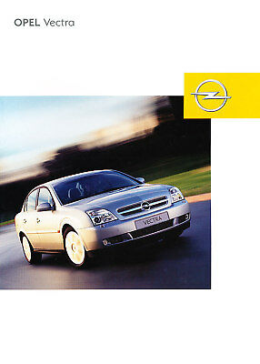 2003 Opel Vectra Deluxe German Sales Brochure Prospekt
