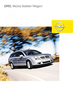 2004 Opel Vectra Wagon German Sales Brochure Prospekt