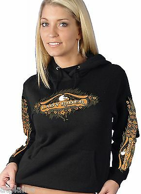 Sweat femme capuche LADY RIDER - Taille S - Style BIKER HARLEY