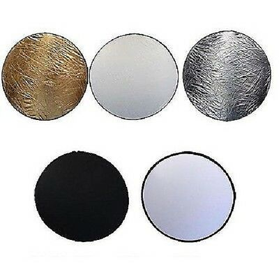 "42"" 110cm 5 in 1 Photo Round Studio Collapsible Reflector Light Diffuser Kit Set"