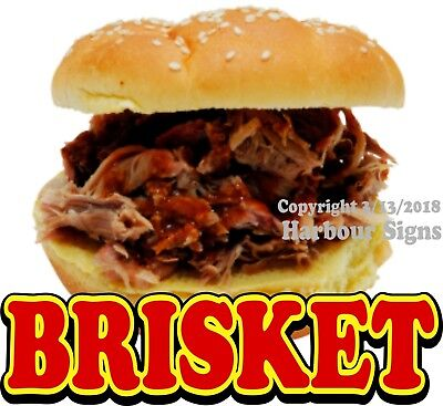 "Brisket BBQ Barbeque Concession Decal 12"" Food"