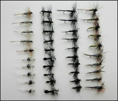 40 Dry Trout Fishing Flies, 8 Varieties -  Small hook 16 to 20, Fast Delivery