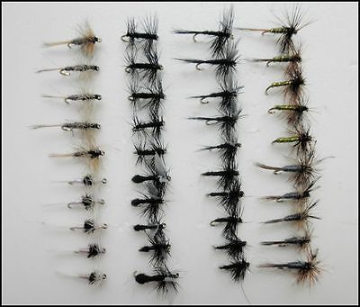 Dry Trout Fishing Flies, 40 Pack , 8 Varieties, Small hook 16 to 20 fly Fishing