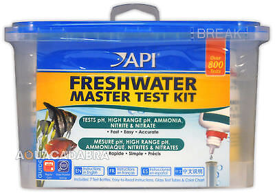 API FRESH WATER MASTER TEST KIT 800 TESTS AQUARIUM FISH TANK pH Nitrate/Nitrite