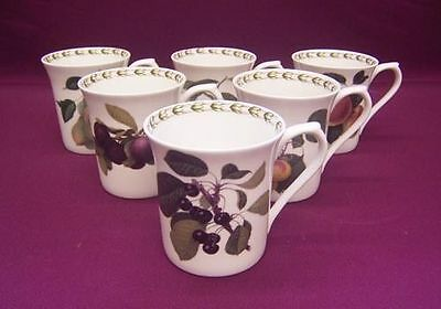 QUEENS HOOKERS FRUIT 6 STRAIGHT MUGS (7oz) - NEW