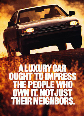 1989 Acura Legend 8-sided Classic Advertisement AD P83
