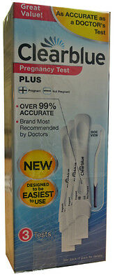 3 Clearblue Pregnancy Test Visual Plus Home Testing Kit Sticks