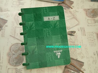 Rubrica 11 X 15 Clairefontaine3Pag.lett. Verde