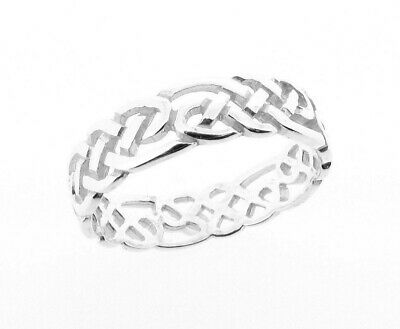 Sterling Silver Celtic Design Ring - Hand Finished - Made in the UK RRP £25.99
