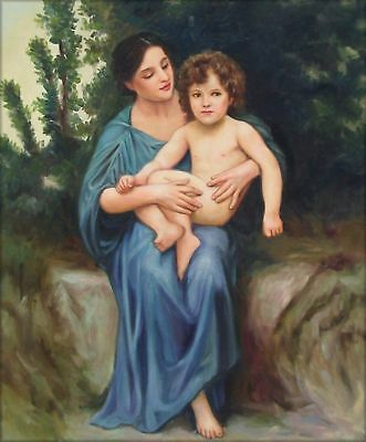 Hand Painted Oil Painting Repro Bouguereau Little Brother, 1902 20x24in