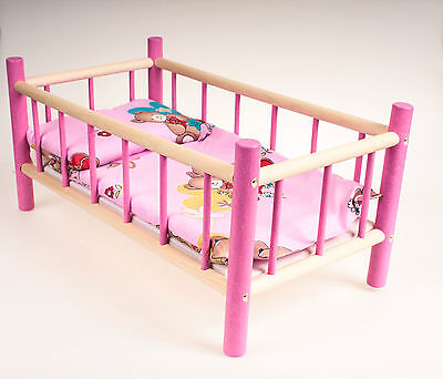 New Large Wooden Cot,bed,crib Dolls Toy