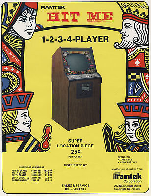 Manuals & Guides Hearty 1975 Ramtek Trivia Video Flyer Arcade Gaming