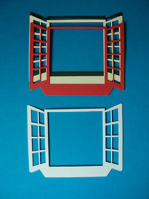 Large open window die cuts for toppers x 10