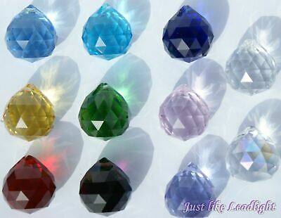 5x 40MM CRYSTAL BALL-  SUNCATCHER PENDANT gift bulk prism craft supplies hanging