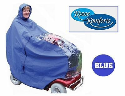 Mobility Scooter Rain Cape / Cover Waterproof Protection - By Kozee Komforts.