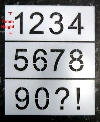 75mm Number Industrial Stencils
