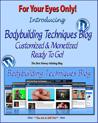 Bodybuilding Blog Self Updating Website - Clickbank Amazon Adsense Pages & More