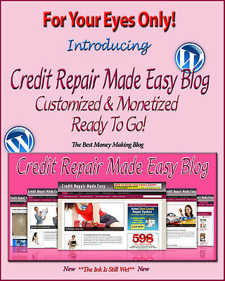 Credit Repair Blog Self Updating Website - Clickbank Amazon Adsense Pages & More
