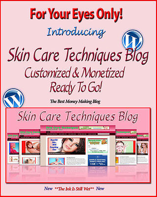 Skin Care Blog Self Updating Website with Clickbank Amazon Adsense Pages & More*