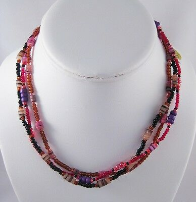 12 New Assorted Glass Bead & Shell Necklaces #N2530