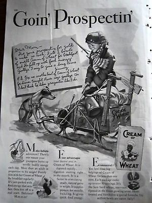 1938 Cream of Wheat Boy Dog Sled Prospectin Ad
