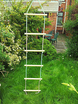 New Wooden Rope Ladder  6 Rungs