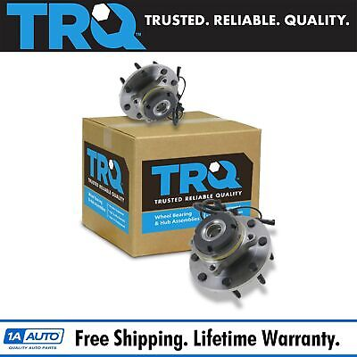 TRQ Front Wheel Hub & Bearing Pair for Super Duty Pickup Truck 4x4 4WD w/ABS