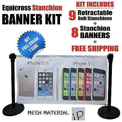 Stanchion Advertising Banner Kit FREE SHIPPING