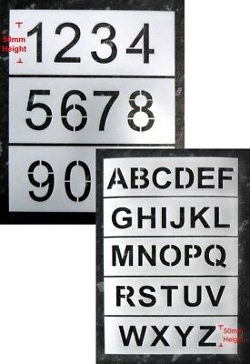 50mm Letter and Number Industrial Stencils