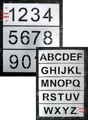 60mm Letter and Number Industrial Stencils