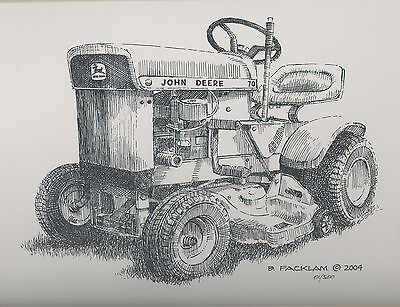John Deere 70 Lawn Tractor Limited Editioin Print Mattted #'d 1/500... Print #1