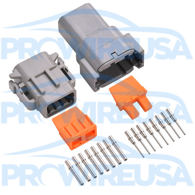 Deutsch DTM 8 Pin Connector Kit 22-18 AWG Nickel