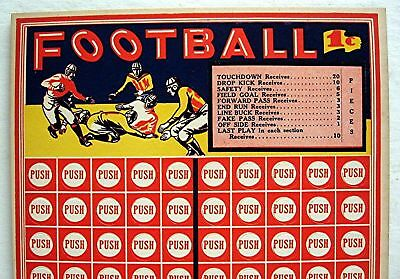 Acme 1 Cent Football Jackpot Prize Punch Board Chicago