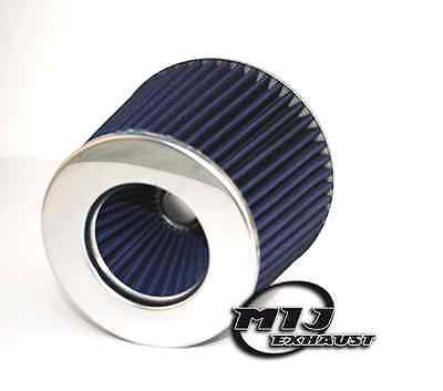 """BLUE Air Filter 3"""" Aftermarket Performance Sports Cone Upgrade 60 65 70mm Inlet"""