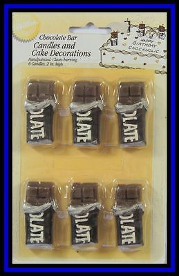 NEW! Wilton  **CHOCOLATE BAR CANDLES & DECORATIONS**NIP