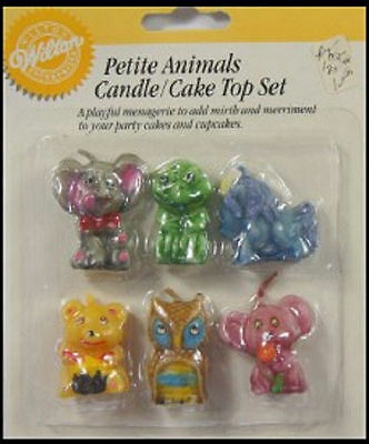 Petite Animals Candles and Decorations from Wilton - NEW