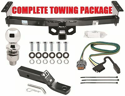 """COMPLETE TRAILER HITCH PACKAGE 2"""" BALL + WIRING + MOUNT"""