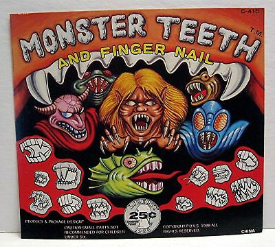 Monster Teeth & Nails Gumball Vending Machine Toy Sign