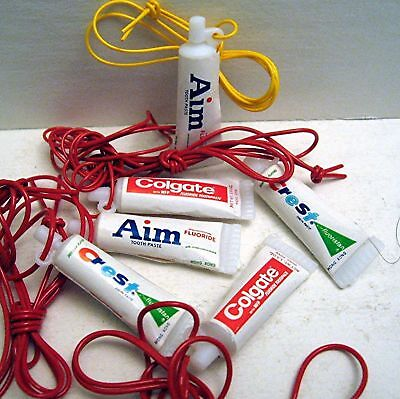10 Toothpaste Tubes Necklace Charms Vending Machine Toy