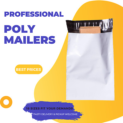 500 #04 350x480mm Plastic Satchel Poly Mailer - Self Sealing Courier Bag PM04