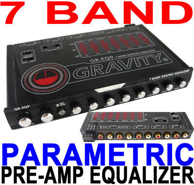 7 Band Car Equalizer Eq/7 Volt Pre-Amp Gr-Eq9 Gravity