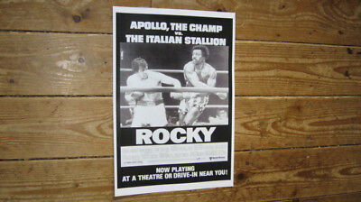 Rocky I Sylvester Stallone Repro BW POSTER