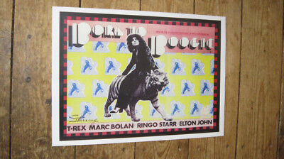 Marc Bolan T Rex Born to Boogie Advertising POSTER