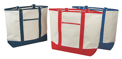 Wholesale Lot 12 Deluxe Tote Bags Canvas Handbag New