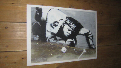 Banksy Street Art Police Sniff POSTER