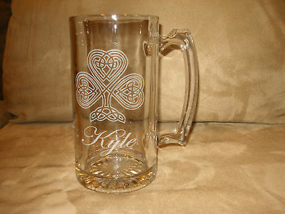 4 -25 oz Celtic Personalized Beer MUGS