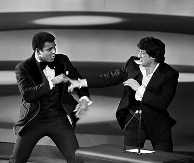 Sylvester Stallone Spars with Muhammad Ali 10x8 Photo