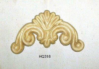 "WOOD EMBOSSED APPLIQUE 5 1//4/"" X 6 5//8/""    HQ096"